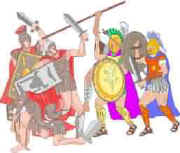 Roman army fight