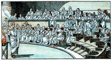 a look at the history of the roman senate And certainly, the senate house in particular should be built above all so as to   the title of augustus (augustus, res gestae, xix dio, roman history, li221.