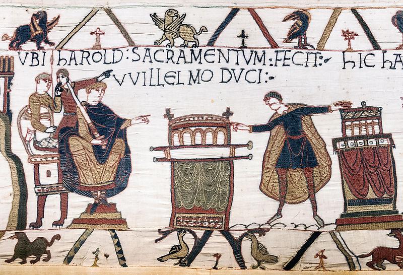 800px-Bayeux_Tapestry_scene23_Harold_sacramentum_fecit_Willelmo_duci.jpg