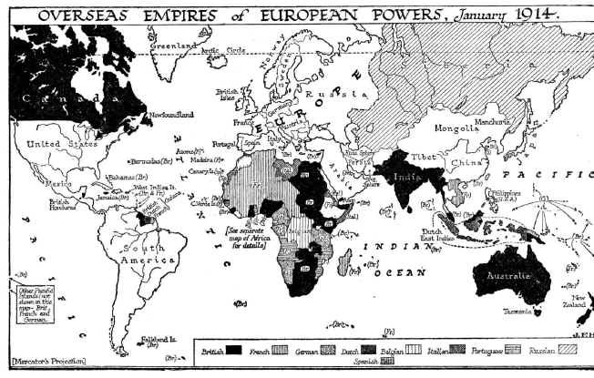 Map of Empires 1914