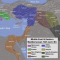 Eastern Mediterranean and Middle East in 14th century B.C. (the Armana period). Alexikoua [CC BY SA 3.0], via Wikimedia Commons