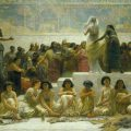 The Babylonian Marriage Market, by Edwin Long, exhibited in the Royal Holloway College (London). Public domain, via Wikimedia Commons.