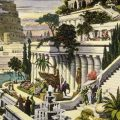 """""""Hanging Gardens of Babylon"""" probably 19th century after the first excavations in the Assyrian capital. Public domain, via Wikimedia Common"""