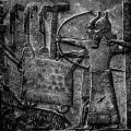 Illustration of Assyrian relief of Tiglath-Pileser III besieging a town. From Nineveh; in the British Museum. Public domain, via Wikimedia Commons