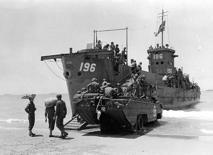 d-day landing ships