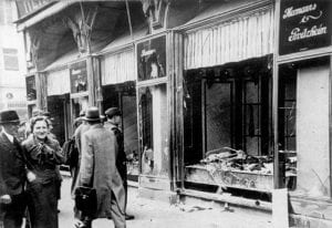 wreckage from Kristallnacht
