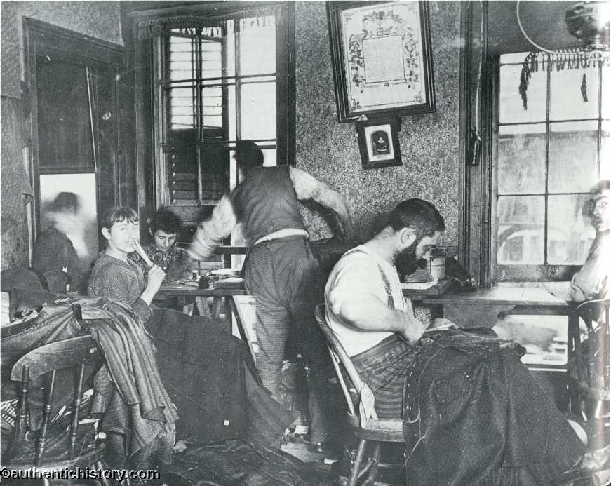 How The Other Half Lives By Jacob Riis Chapter  Kneepants At Fortyfive Cents A Dozena Ludlow Street Sweaters Shop