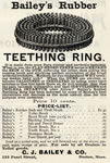 Bailey's Teething Ring (and other hygiene items listed)
