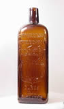 "Bottle of ""Microbe Killer"", c.1880s. ""Germ, Bacteria, or Fungus Destroyer, Wm. Radam's Microbe Killer Registered Trade Mark Dec. 13 1887 Cures All Diseases"""