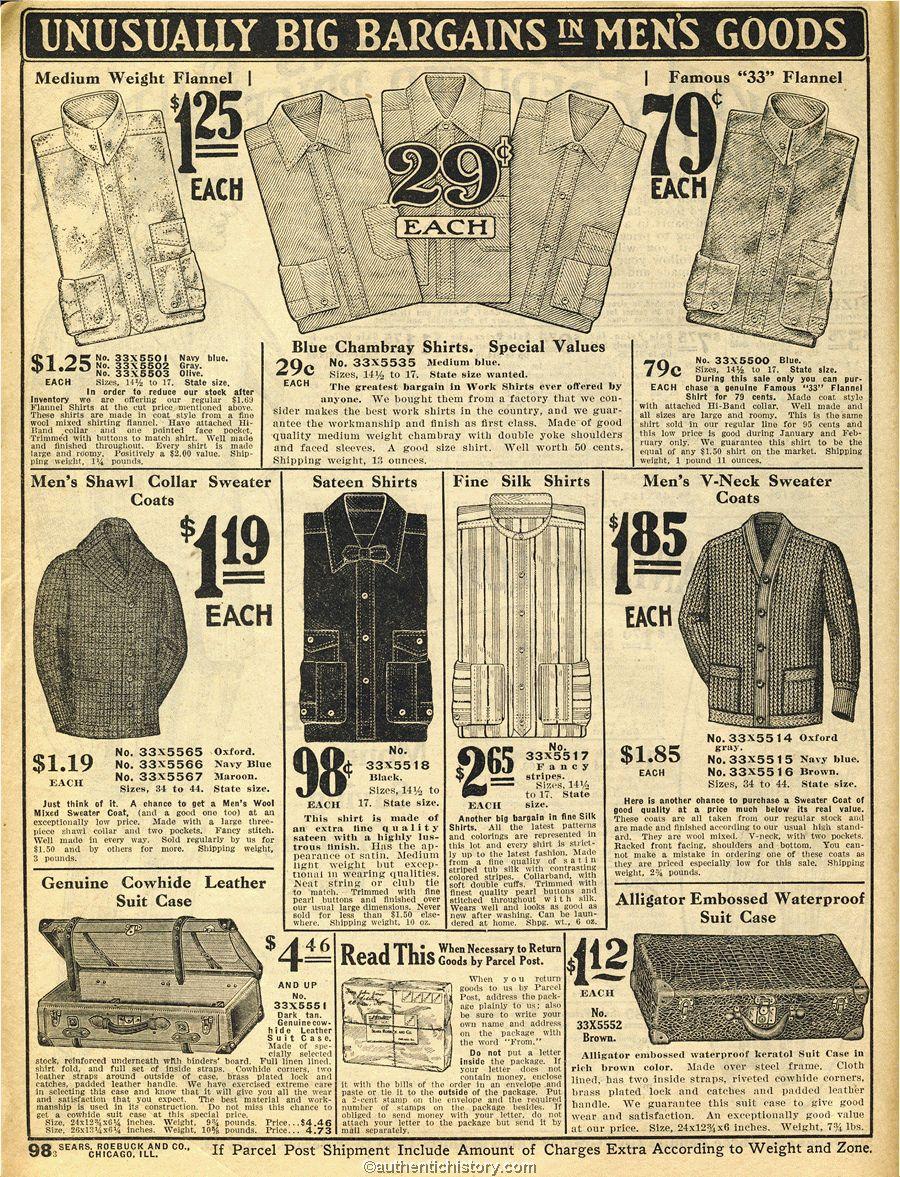 Sears Catalog Men S Clothes