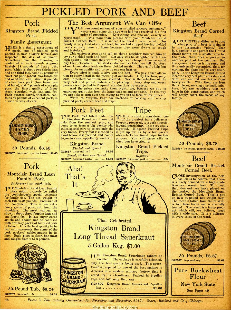 33 12 50 20 >> 1915 Sears Grocery Catalogue