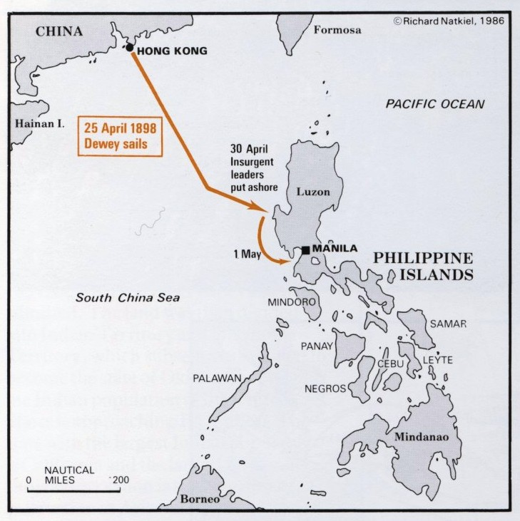 The SpanishAmerican War Part The Philippine Campaign - Maps of us imperialism