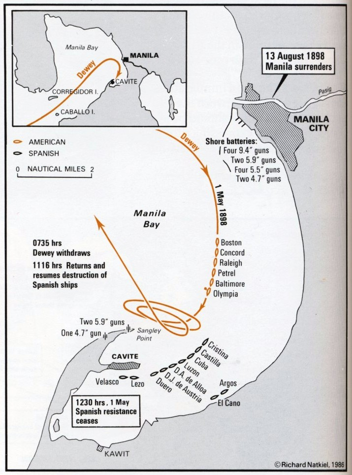 Spanish Philippines Map.The Spanish American War Part 2 The Philippine Campaign