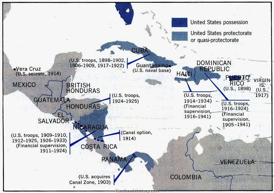 Taft Wilson Foreign Policy - Maps of us imperialism