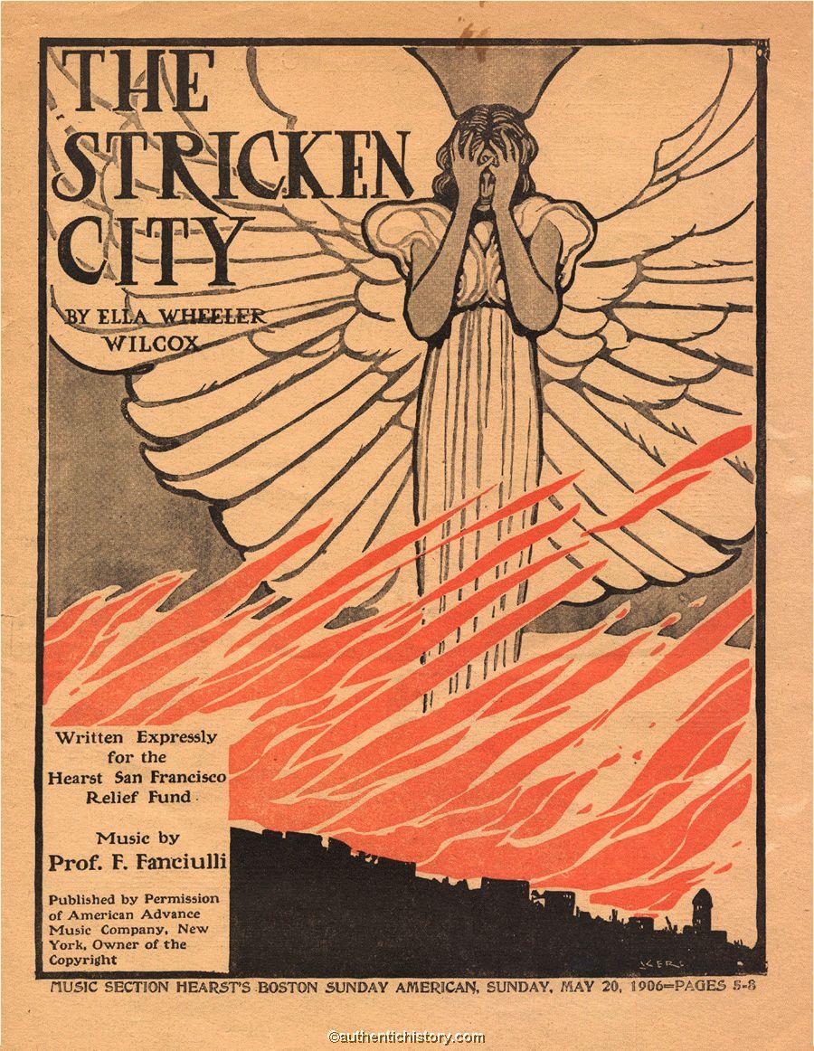 Earthquake >> Sheet Music: The Stricken City (1906)