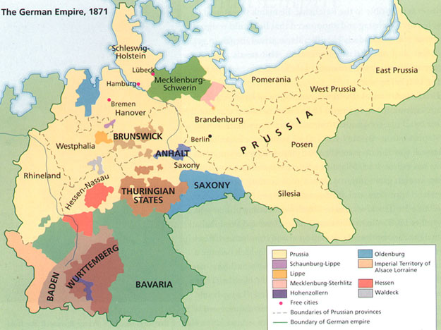 Map Of Germany In 1914.The Origins Of Wwi