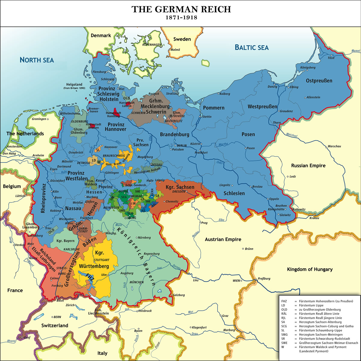 A WWI era map of Germany