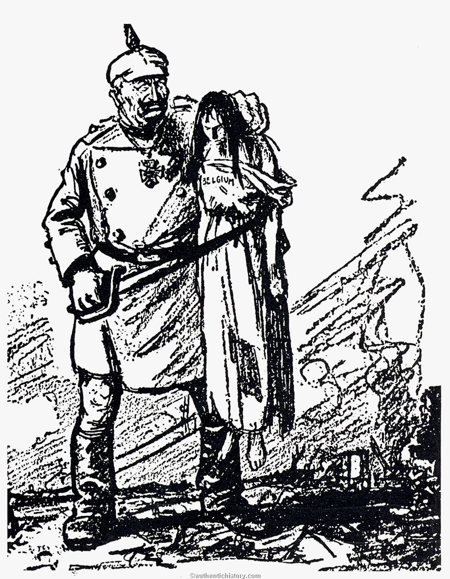 war hysteria the persecution of german americans Photoshop the Last of Us the kaiser mits atrocities in belgium new york world 1914 artist unknown