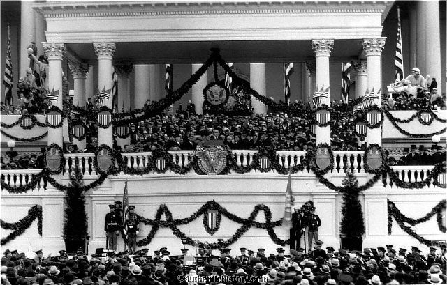 """franklin d roosevelt first inaugural address President franklin d roosevelt delivers his first inaugural address, telling those  gathered that """"the only thing we have to fear is fear itself."""