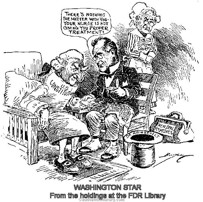 Fdr New Deal Political Cartoons