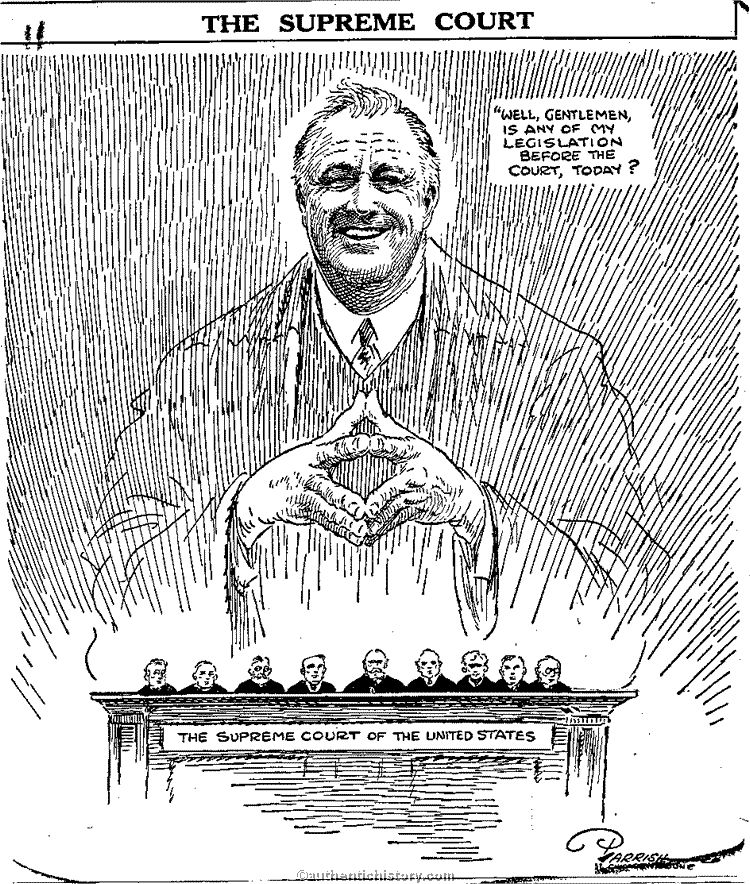 Image result for fdr court packing cartoon