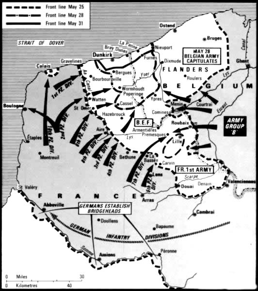 Wwii multimedia timeline 1939 1941 map of dunkirk 1940 gumiabroncs Choice Image