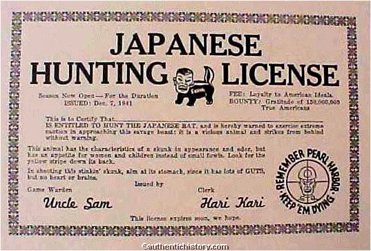 Wwii homefront anti japanese for Kansas out of state fishing license