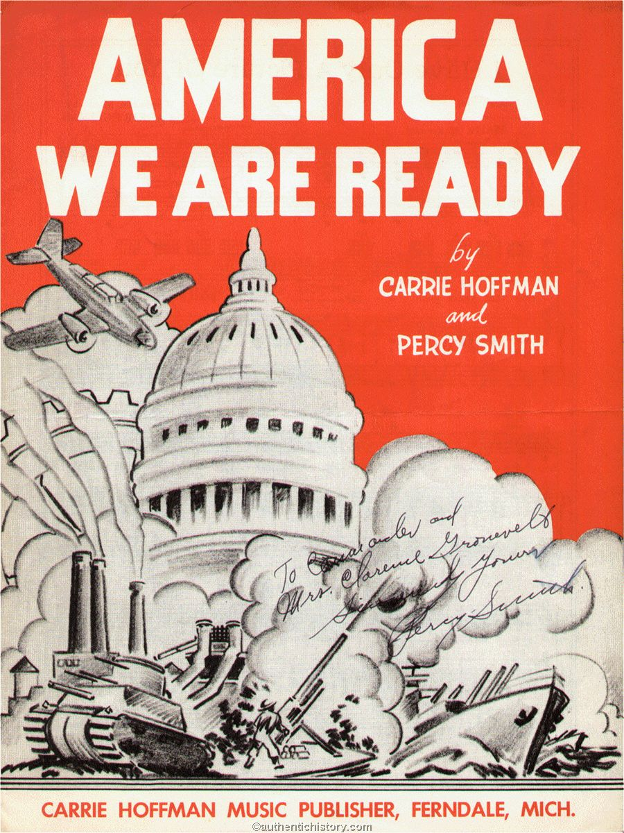 Sheet Music America We Are Ready 1942