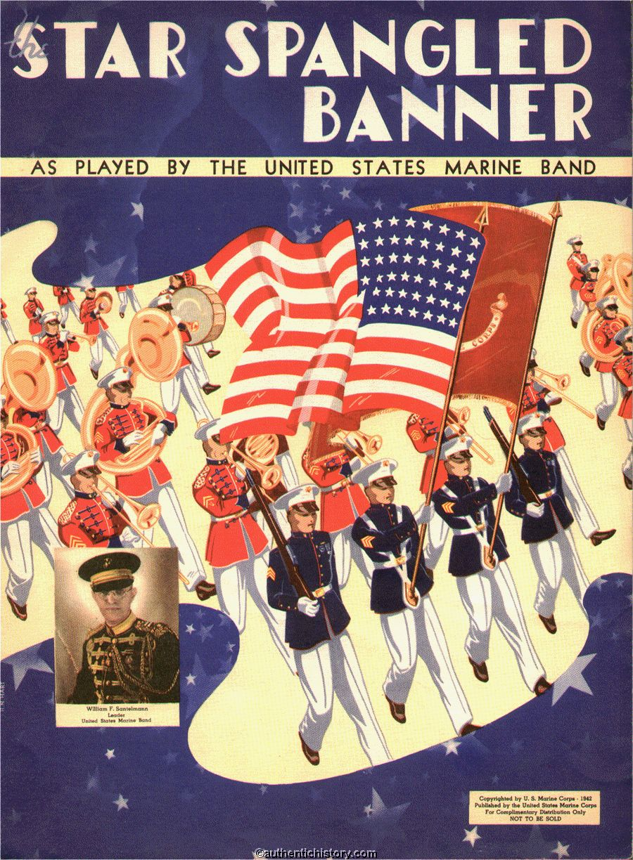 Sheet Music The Star Spangled Banner 1942