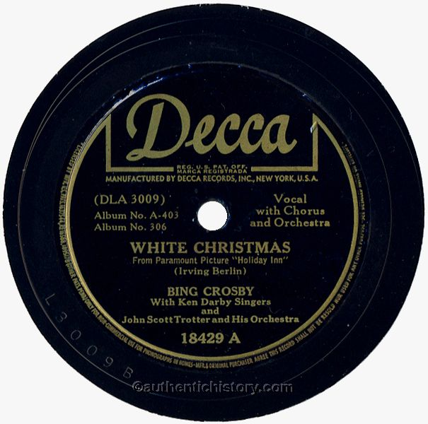 White Christmas, by Bing Crosby (1942)