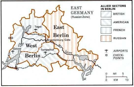 Map Of Germany During Cold War.Origins Of The Cold War 1946 1950