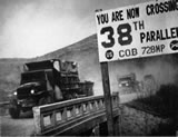 U.S. forces cross the 38th Parallel back into South Korea