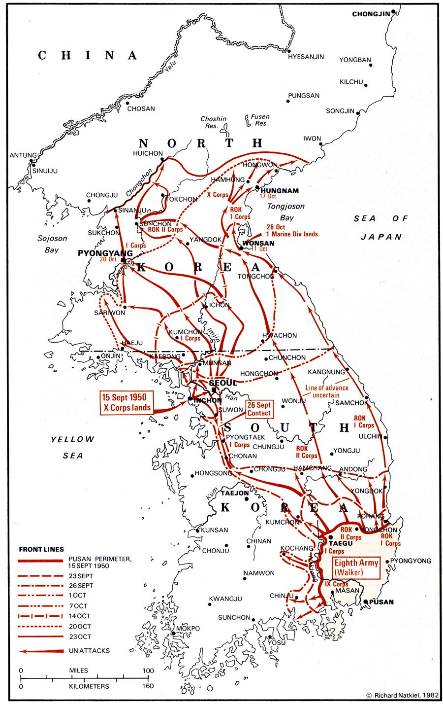 An Overview Of The Korean War - Map of south korea us army bases