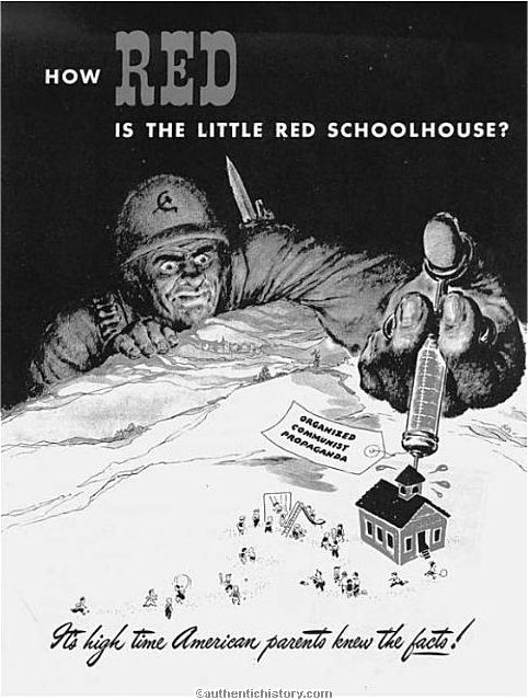 the cold war home front mccarthyism how red is the little red schoolhouse 1953