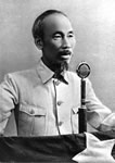 Ho Chi Minh Delivers Address, 1945