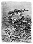 This Herblock cartoon depicting the Vietnam War as a quagmire was published 2 days before the Tet Offensive