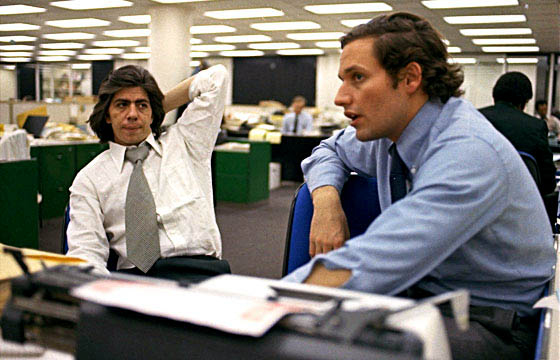 Washington Post Reporters Carl Bernstein (L) U0026 Bob Woodward (R)