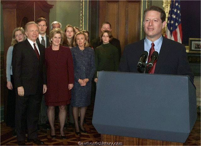 an analysis of the speech of the president al gore Sure, the white house slipped from former vice president al gore's grasp, but  how many politicians end up on stage at oscar night.