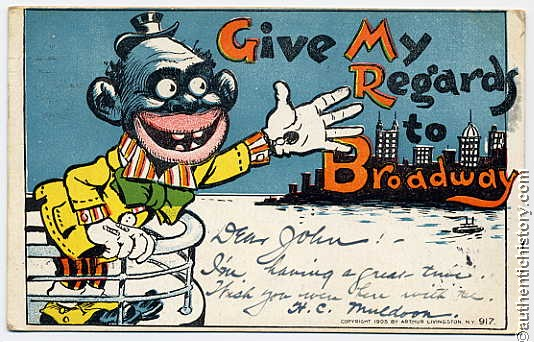 The Coon Caricature Blacks As Monkeys