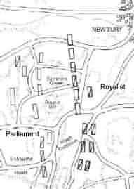 Newbury battle map