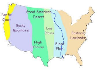 American west the great american desert history this map click to enlarge shows the geographical divisions of north america these divisions still exist today gumiabroncs Gallery