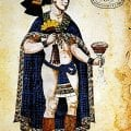 Nezahualpilli, ruler of Texcoco, depicted in the Codex Ixtlilxochitl wearing the tilma and loincloth