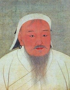 Genghis Khan as portrayed in a 14th-century Yuan era album