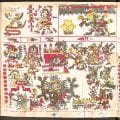 Huitzilopochtli, the god of war, is raising up the skies of the South, page 50, Borgia Codex