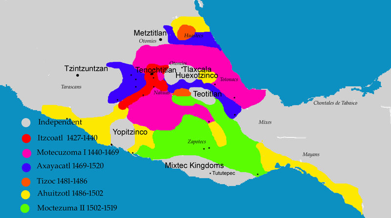 Aztec Civilization Map Overview of the Aztec Empire   History