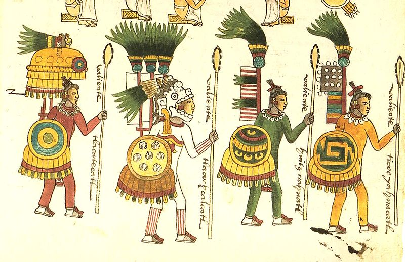 Aztec Warriors Fighting for Conquest and Captives