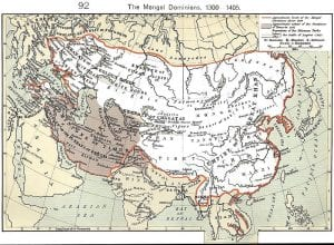 mongol empire timeline