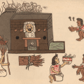 "A ""temāzcalli"" or Aztec steam bath from the Codex Magliabecchi"
