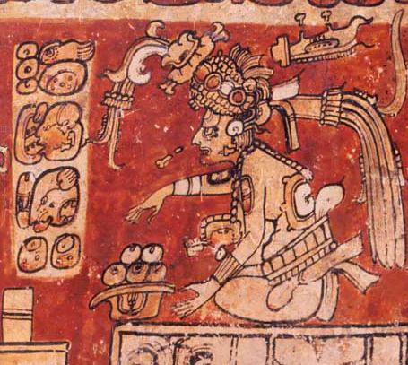 Itzamna, a creator god and the god of writing, calendars and medicine. Public domain, via Wikimedia Commons.