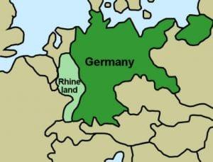 Map Of Germany Rhineland.Nazi Germany The Rhineland History